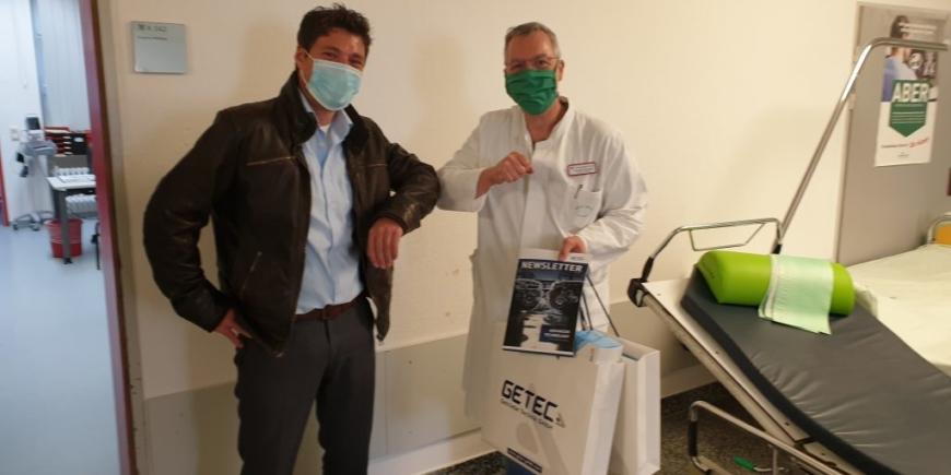GETEC Getriebe Technik GmbH donated 500 surgical masks to Marien-Hospital